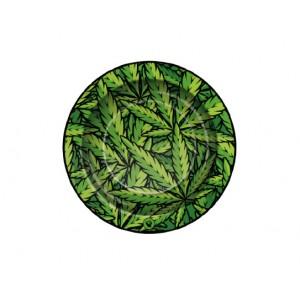 Fire-Flow Ashtray Leaves #33 grün small