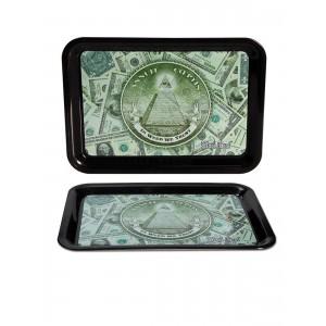 Black Leaf Mixing Tray 'Dollar' Drehunterlage