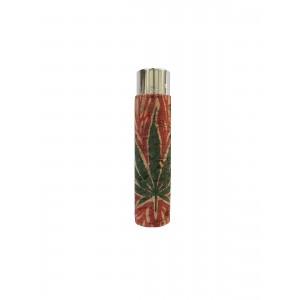 CLIPPER Feuerzeug Cork Cover Leaf #17 rote Flamme (Handgenäht)