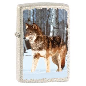 Zippo Feuerzeug Wolf Snowy Forest