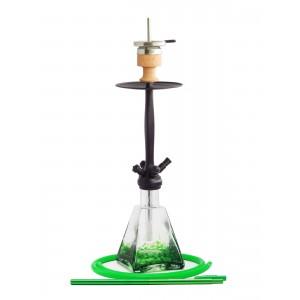 AMY Shisha Aero-X matt schwarze Rauchsäule grün gemustert