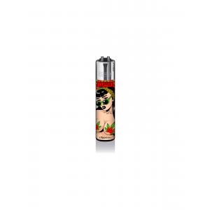 CLIPPER Feuerzeug Mary Jane PinUps #3 - Rot