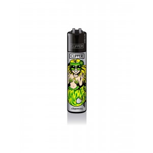 CLIPPER Feuerzeug Meerjungfrauen grün