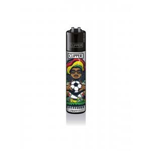 CLIPPER Feuerzeug Rastaman - Football