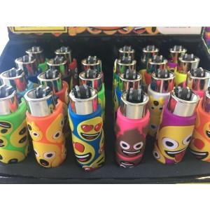 CLIPPER Feuerzeug Silikon Emoji (Handgenäht)