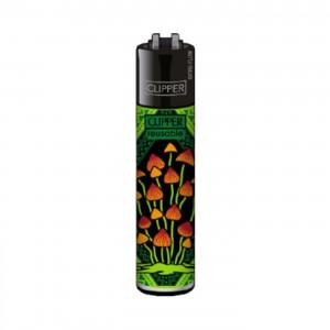 CLIPPER Feuerzeug Shrooms #5 grün
