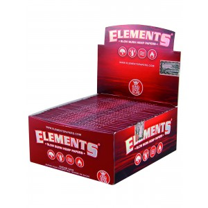 ELEMENTS Red Papers King Size Slim, 50er Box