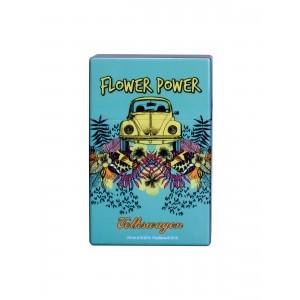 Zigaretten Click Box Flower Power hellblau
