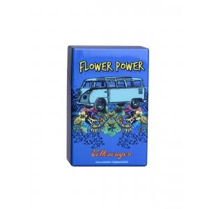 Zigaretten Click Box Flower Power dunkelblau
