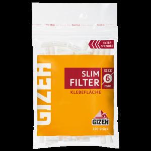 GIZEH Slim Filter 6 x 15 mm, 120er Pack