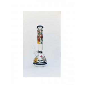 Highline Rick & Morty Beaker Bong mit Eiskerben 18.8 Schliff