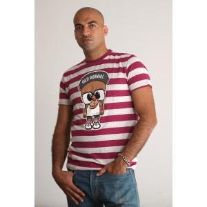 PANUU Harlem Tee (Streifen burgund), T-Shirt