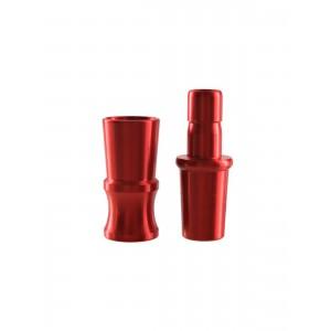 Kaya Shisha Team CUT Schlauchanschluss-Set ELOX ohne Ventil rot