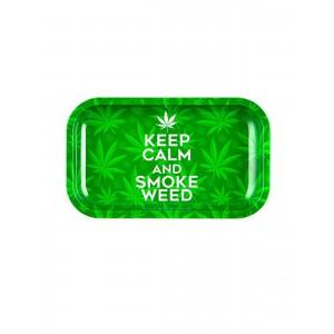 Keep Calm And Smoke Weed Drehunterlage Metall small
