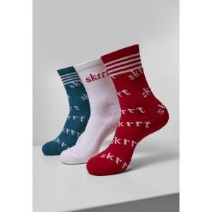 Skrrt AOP Socks Triple Pack blau weiß rot