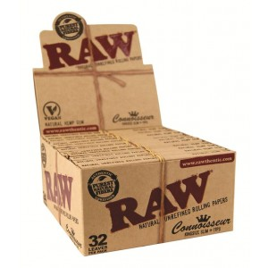 RAW Connoisseur Kingsize Slim + Tips Papers, 24er Box