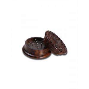 """Rosenholz Grinder """"Leaf"""" Ø 40 mm, 2-teilig geschnitzt"""