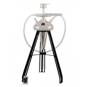 AMY Shisha Deluxe Spaceship mit Koffer - transparent