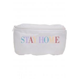 Mister Tee Stay Home Hip Bag weiß