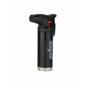 Super Heroes Torch-Feuerzeug mit blauer Flamme schwarz
