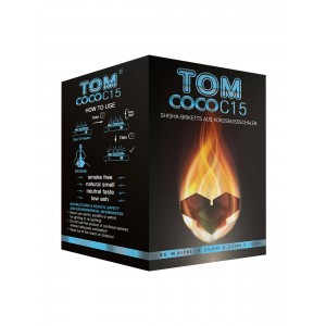 TOM Coco blau, 1 kg Kokoskohle-Briketts