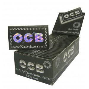 OCB Schwarz Premium Double Papers kurz, Heftchen einzeln