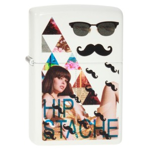 """Hipster Mustache"" Zippo Feuerzeug"