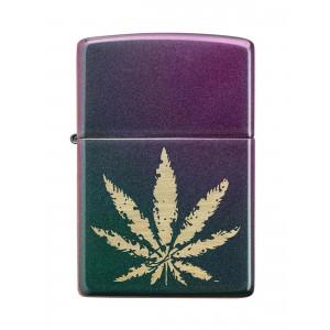 Zippo Feuerzeug Cannabis Blatt grün