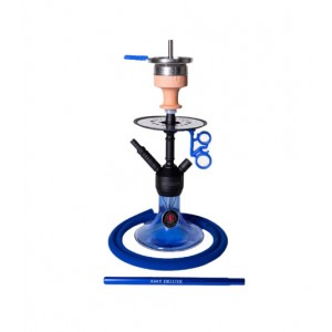 AMY Shisha Alu Jewel S 071.03 black powder blue 44 cm