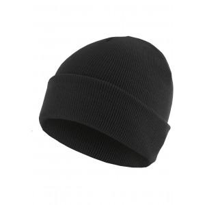 MasterDis Beanie Basic Flap schwarz