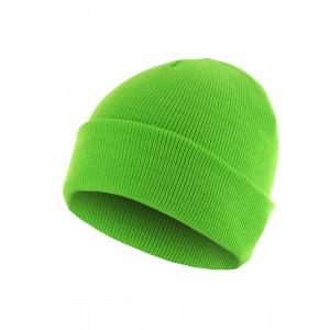 MasterDis Beanie Basic Flap neongrün