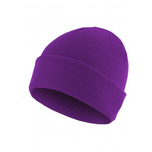 MasterDis Beanie Basic Flap lila