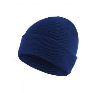 MasterDis Beanie Basic Flap royalblau