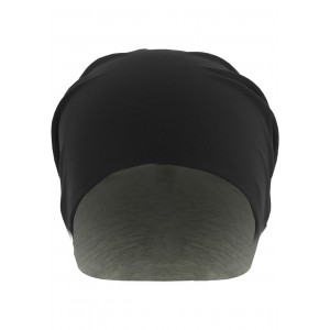 MasterDis Jersey Beanie reversible schwarz/grau