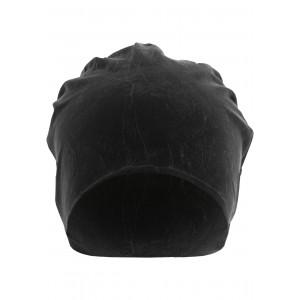 MasterDis Stonewashed Jersey Beanie schwarz