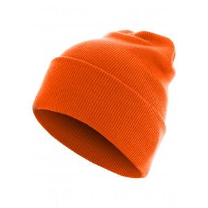 MasterDis Beanie Basic Flap Long Version neonorange