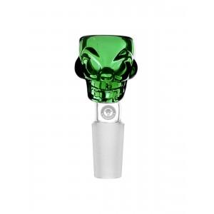 WEED-STAR 14.5 Bongkopf Skull Bowl, grün