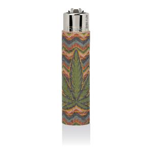 CLIPPER Feuerzeug Cork Cover Leaf #7 ZicZac (Handgenäht)