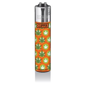 CLIPPER Feuerzeug Lol Leaves, orange