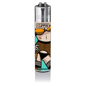 CLIPPER Feuerzeug Popart Porn #2, turquoise