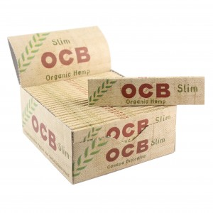 OCB Organic Hemp King Size Slim Papers, 50er Box
