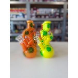 'ZigZag' Glasbong 14.5 Schliff 21,5 cm orange oder gelb