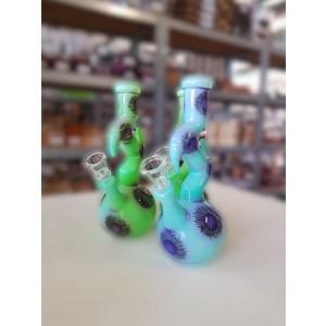 'ZigZag' Glasbong 14.5 Schliff 21,5 cm blau oder grün