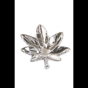Champ High Leaf Aschenbecher silber