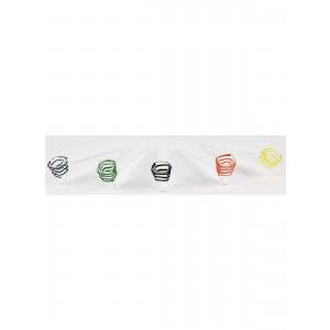 2Beees handgefertigte Glaspfeife bunt 10 cm