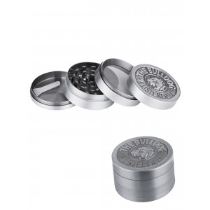 The Bulldog Grinder Metall Ø 50 mm, 4-teilig silber