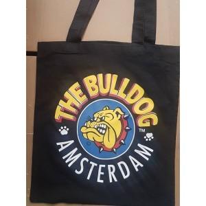 The Bulldog Baumwolltragetasche, schwarz