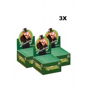 3 x 50er Box Smoking Green King Size Longpapers