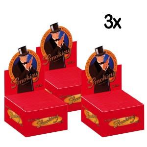 3 x 50er Box Smoking Red King Size Longpapers