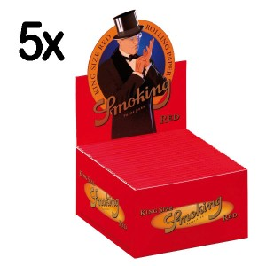 5 x 50er Box Smoking Red King Size Longpapers